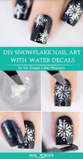 7 Easy Tutorials On Snowflake Nails Art   NailDesignsJournal