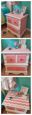 chevron painted furniture. Chevron Stripes On Nightstand Www.diybeautify.com #frogtape #chevron #chalkpaint Painted Furniture .