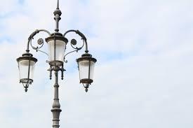 an old school street light