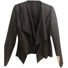 zara black faux with flowing lapels leather jacket women s item 23283294 kn8xcimzbn762s