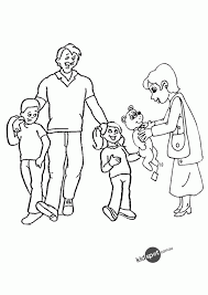 Small Picture Coloring Pages Of Family Coloring Home