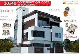 Architect Design Cost 30x40 Construction Cost In Bangalore 30x40 House