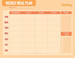 Weekly Meal Planer We Made A Weekly Meal Planner For You