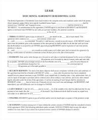 Free Basic Rental Agreement Form – Heureux Template