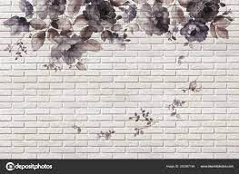 Wallpaper Roses Brick Wall Background ...