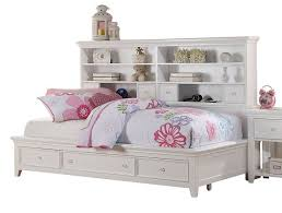 White bookcase storage bed Bookcase Headboard Totally Kids Fun Furniture Toys Trixie White Big Bookcase Storage Bed