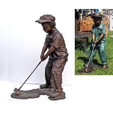 bronze boy golfer bronze boy golfer