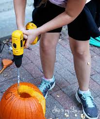 pumpkin carving tools for kids. this simple trick is easiest enough for kids to do, plus pumpkin carving with power tools revs up the fun! love easy