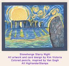 Stonehenge Designs Cards Coloring Highlander Celtic Stamps
