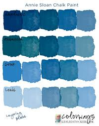 The Moody Blues | Colorways Layering different chalk paint blues gives  depth to a blue finish