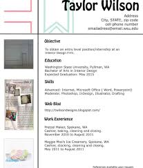 Interior Design Resume Examples Unique Resume Format Interior