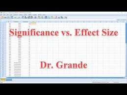 effect size anova significance vs effect size for one way anova using spss youtube