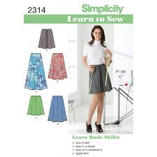 Simplicity Skirt Patterns Gorgeous Simplicity Learn To Sew Ladies' Skirt Sewing Pattern 48 Hobbycraft