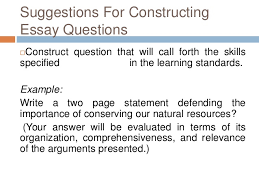 essay type test 22 suggestions for constructing essay