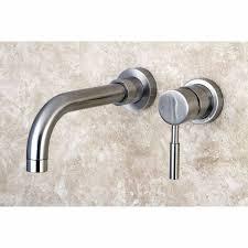 wall mount bathtub faucet elegant kingston brass ks8118dl concord wall mount single lever handle sink faucet satin nickel