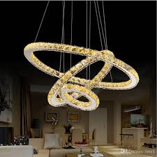 modern chandelier led crystal ring chandelier crystal light fixture light suspension led lighting circles lamp tri tone light glass chandeliers glass ball