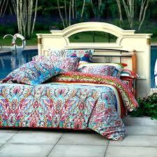 bohemian quilt set bohemian quilts queen bohemian duvet bedding set aqua blue green and red colorful bohemian quilt set