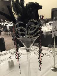 Table Decorations For Masquerade Ball Garden Glam Hudson Valley Wedding Masquerade Ball Table Centers 9