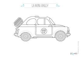 Coloriage La Voiture De Rallye Momes Net