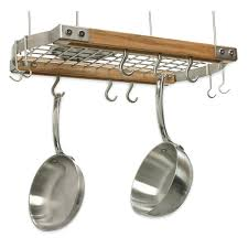 Wall Mounted Pan Rack Ikea Pot Racks For Small Kitchens With Double Shelf. Wall  Pot Rack With Lid Holder Kitchen ...