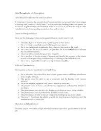 ... Medical Receptionist Description for Resume Inspirational Sample Cover  Letter for Front Desk Receptionist Images Cover ...