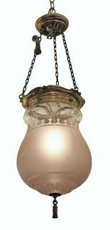 waldorf astoria frosted glass ef caldwell pendant bell jar light
