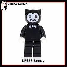 White Bendy and Yellow Bendy mini-figures non lego building blocks -Nhân  vật Bendy trắng và vàng trong trò chơi Bendy and The Ink Machine - KOPF 623