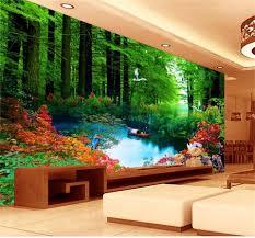 Blauw Water Livingroom Achtergrond 3d Behang Mural Photowall 3d