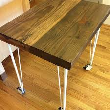 and the reclaimed wood kitchen table on ikea hairpin furniture legs with wheels