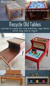 tutorial to recycle old tables and create lego