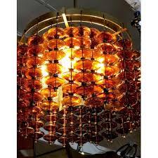 1960 s venini amber italian murano glass chandelier