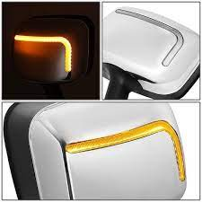 08 17 Freightliner Cascadia Pair Manual Side Hood Mirror W L Style Sequential Led Turn Signal In 2021 Cascadia Freightliner Cascadia Hood