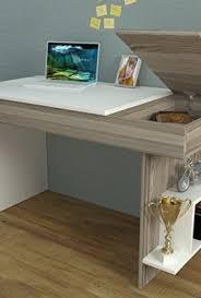 office desk shelf. HIDDEN Bureau White / Avola \u2013 Computer Workstation Home Office Desk Writing Table With Shelf Unit In Modern Design \u2026