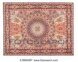 Arabic Pattern Asian Carpet Texture Classic Arabic Pattern Stock Photo