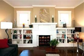 build built in shelves around fireplace window bookcases shelf