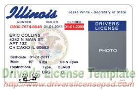 Drivers - License Il Illinois Psd Fake
