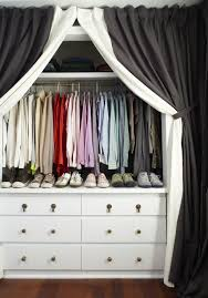 Closet Door Alternatives Curtains • Closet Doors