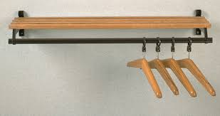 Wall Mounted Wood Coat Rack Folding WallMounted Wooden Coat Rack with Hanger Bar and Shelf 100 30