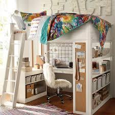Beautiful Loft Beds For Teens Girls Desk Pink And White Loft Bed Shelves  Image Of Girls Kids