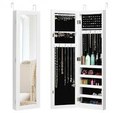 led jewelry cabinet wall mounted
