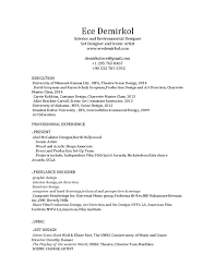 Fall2014 Resume Costume Designer Resumeamplesample Canadian Student