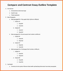 outline essay example essay checklist outline essay example sample compare and contrast essay outline pdf jpg