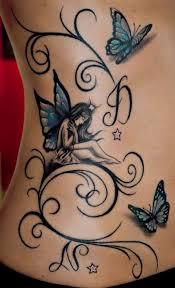 Fairy And Butterflies Tattoos Tetování Tetování Křídel A Nápady