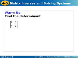 4 how to find the inverse matrix