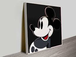 mickey mouseandy warhol iconic pop art wall canvas pertaining to current mickey mouse canvas wall art on mickey mouse canvas wall art with view photos of mickey mouse canvas wall art showing 3 of 15 photos