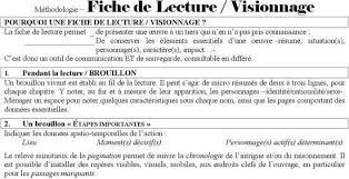 Fiche De Lecture Visionnage