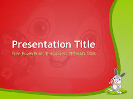 Free Easter Bunny Powerpoint Template Pptmag