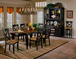Hillsdale Northern Heights Dining Table - Black oval dining room table