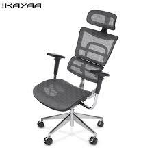 ergonomic office chairs with lumbar support. Perfect Ergonomic IKayaa DE Stock Mesh Ergonomic Office Chair Swivel Computer Desk  Lumbar Support Tilt Slide Headrest On Chairs With I