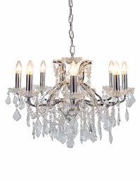 chrome 8 branch shallow chandelier